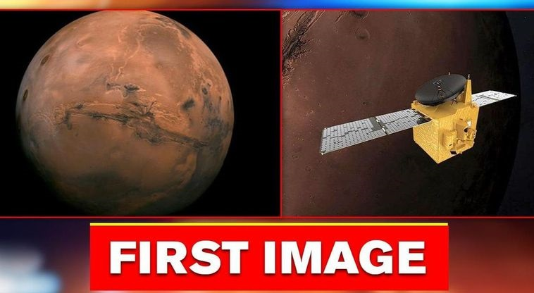 First Image of Mars By Hope Probe