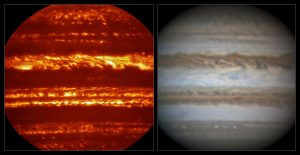 Jupiter Atmosphere Has Different Wavelength