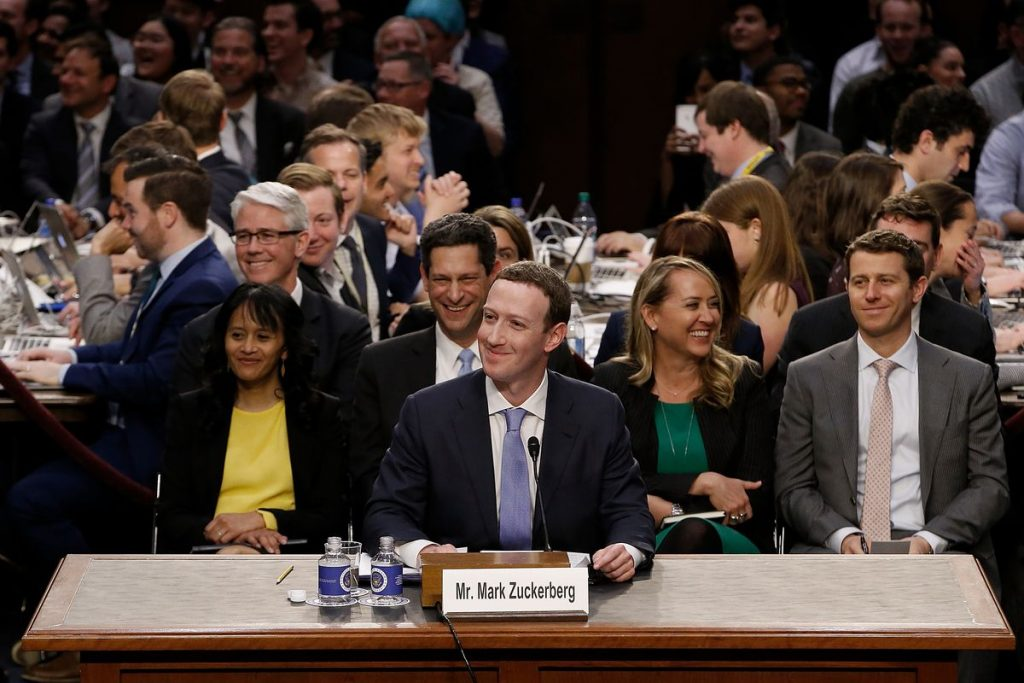 Facebook Appears for Senate Hearing
